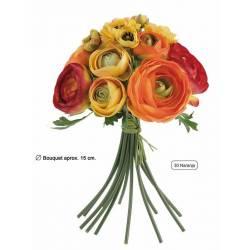 Bouquet flores artificiales ranunculos