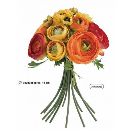 Buquet flors artificials ranuncles