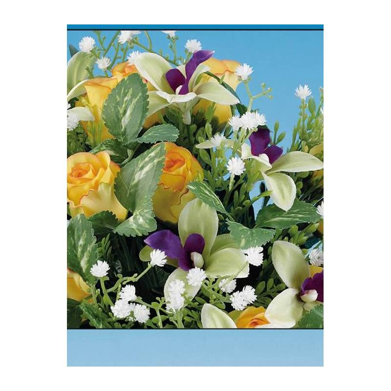 Bouquet flores artificiales mini orquideas oasis decor for Orquideas artificiales