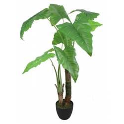 Planta artificial alocasia hojas grandes