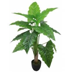 Planta artificial alocasia con maceta