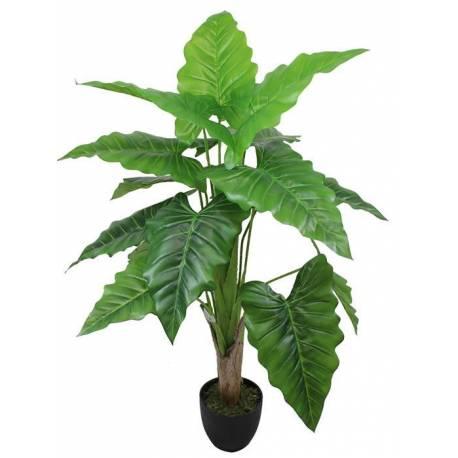 Planta artificial alocasia amb test