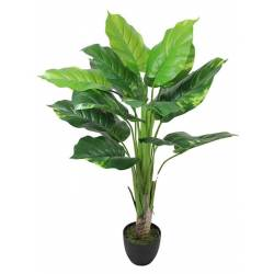 Planta artificial pothos con maceta