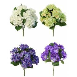 Ramo flores hortensias artificiales