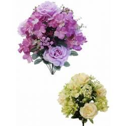 Ram redo flors artificials roses hortensies
