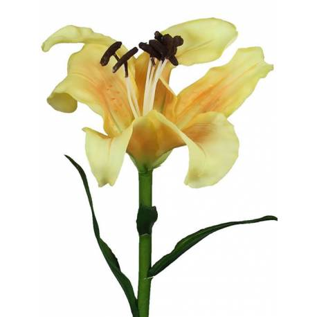Flor artificial lilium latex