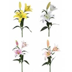 Flor lilium artificial con 2 flores