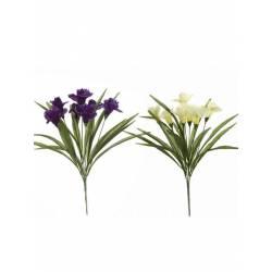 Pomo flores artificiales iris