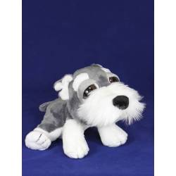 Peluche perro Schnauzer ojos grandes mediano