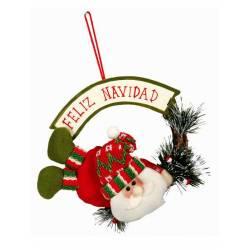 Adorno colgante Papa Noel Feliz Navidad