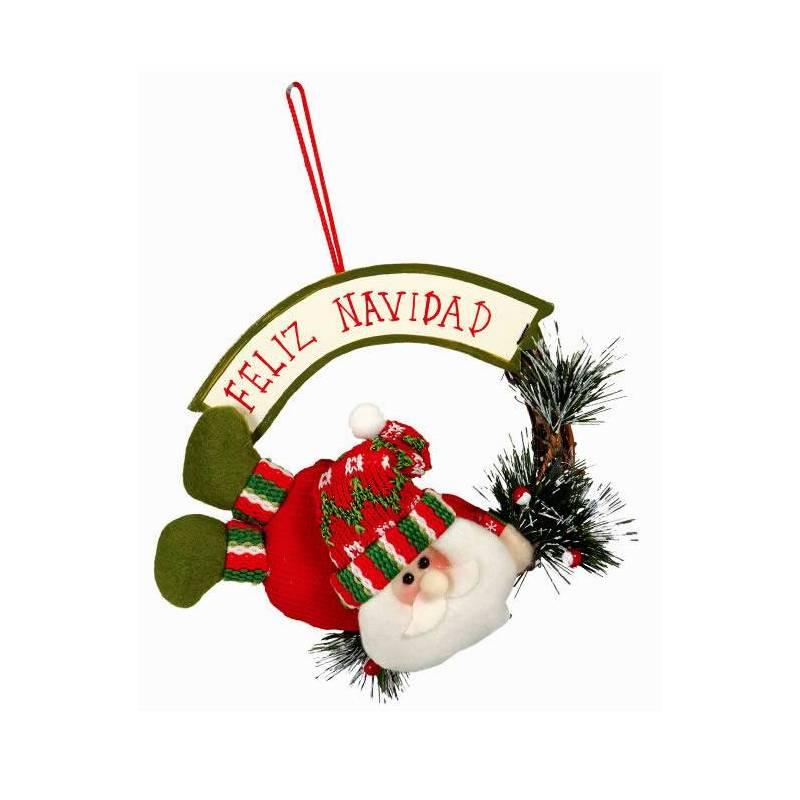 Colgante Papa Noel Feliz Navidad Oasis Decor