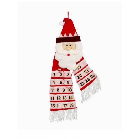 Calendario adviento bufanda Papa Noel