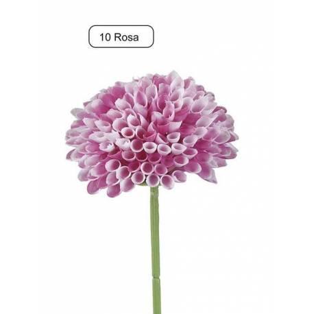Flor mum artificial de plastic