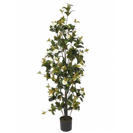 Planta gardenia artificial amb flors 130