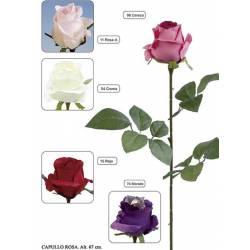 Flor artificial capullo rosa
