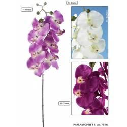 Flor phalaenopsis artificial 8 flores