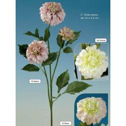 Dahlia artificial xicoteta amb 3 flors