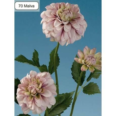 Dahlia artificial pequeña con 3 flores