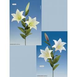 Flor artificial azucena doble