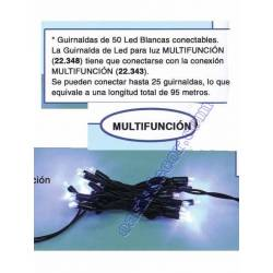 GARLANDA EXTERIOR 50 LED BLANC MULTIFUNCIO