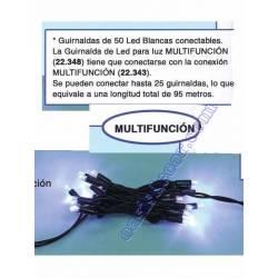 GUIRNALDA EXTERIOR 50 LED BLANCO MULTIFUNCION